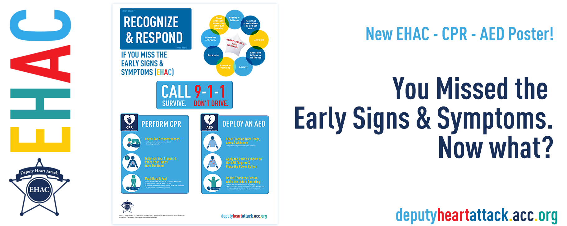 NEW EHAC CPR AED Poster